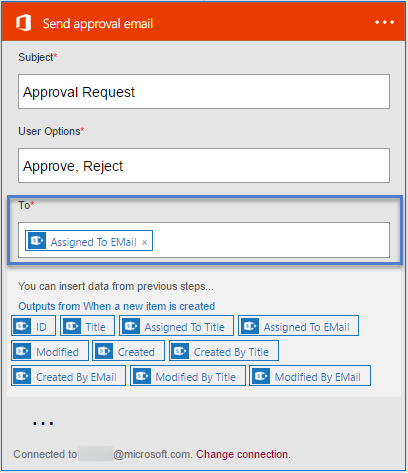 Image of send approval email to field